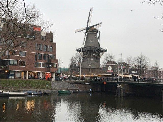 Windmill next to Brouwerij 't IJ Amsterdam