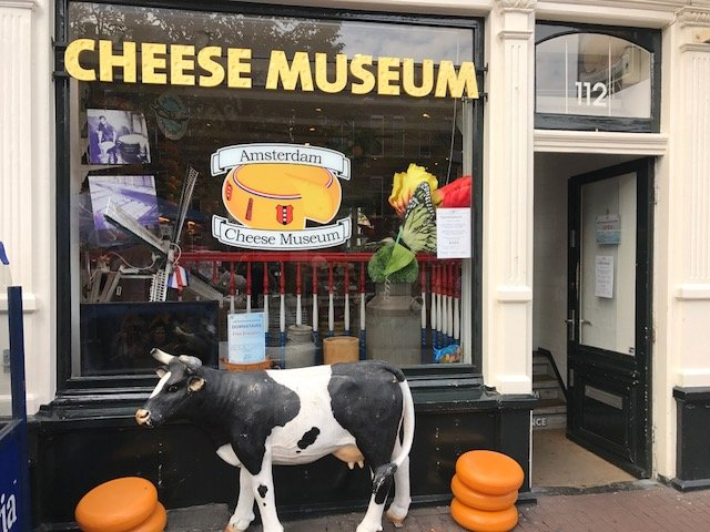 Cheese museum on the Prinsengracht in Amsterdam