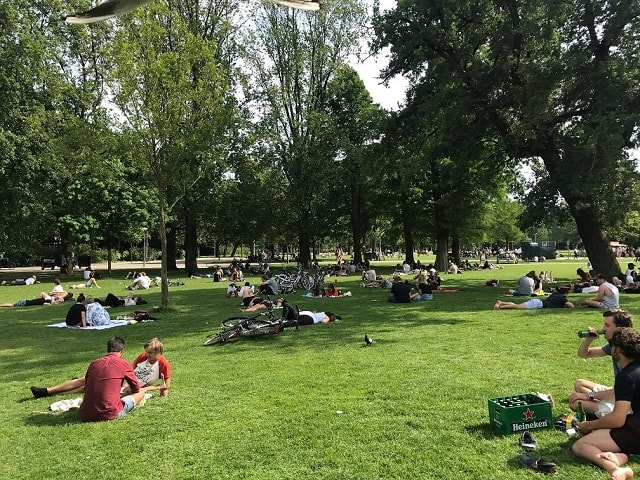 Vondelpark - what to do during a layover in Amsterdam