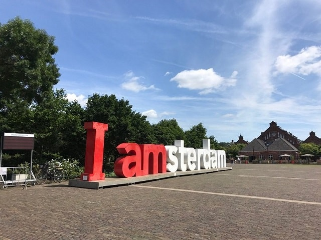 Westerpark - IAmsterdam sign