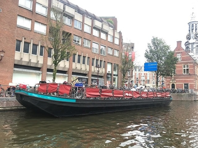 A boat to park your bike on