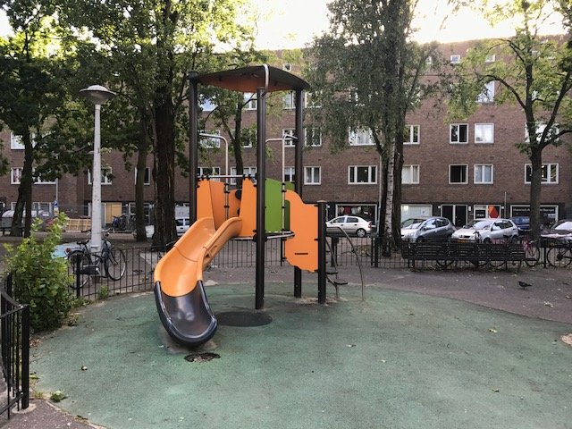 Play ground in Amsterdam West - Free things the Dutch love